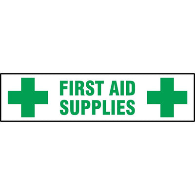 """First Aid Supplies"" Self-adhesive Cabinet Label"