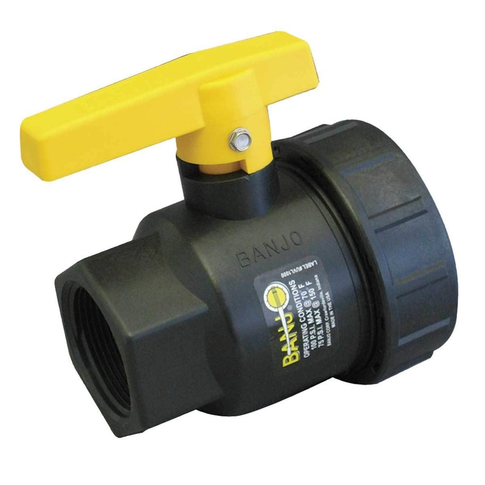 Banjo® Single Union Polypropylene Ball Valves