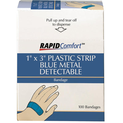 "1""W x 3""L Metal-detectable Plastic Bandages"