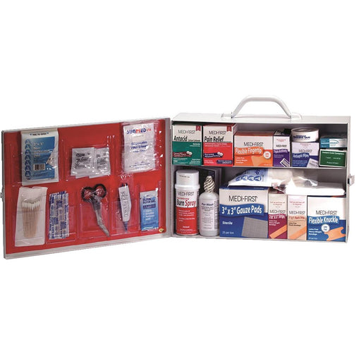 MEDI-FIRST Pre-Filled, Industrial First Aid Cabinet