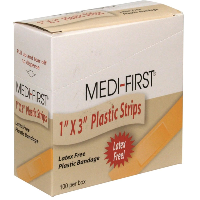 "Medi-First® 1""x3"" Plastic Bandages"