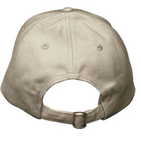 Khaki Brushed Twill Cap with Navy Sandwich Visor