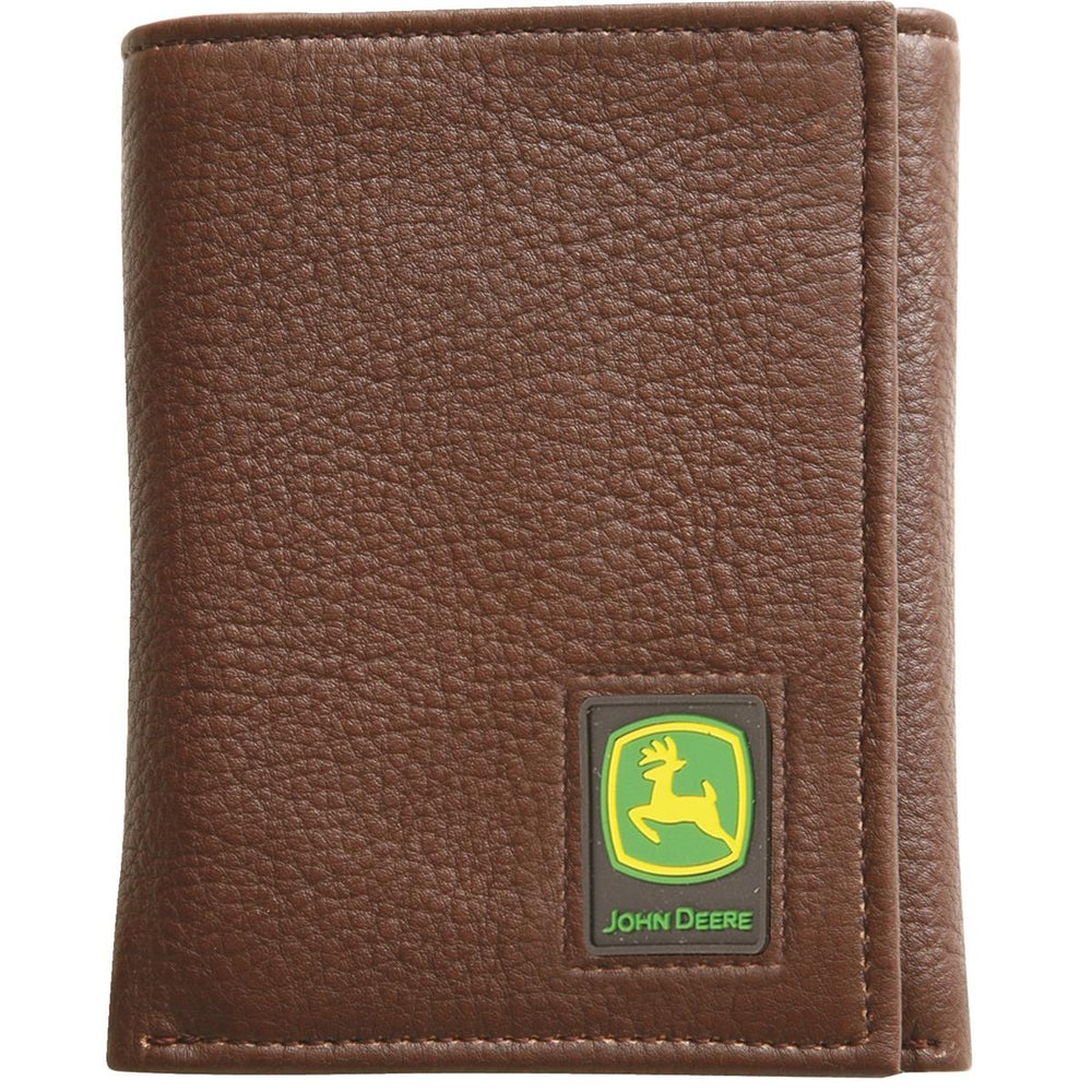 John Deere Trifold Leather Wallet