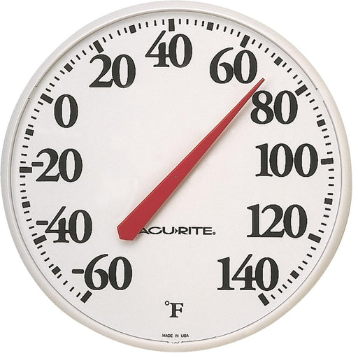 "Basic 12-1/2""-dia. Indoor/Outdoor Thermometer"