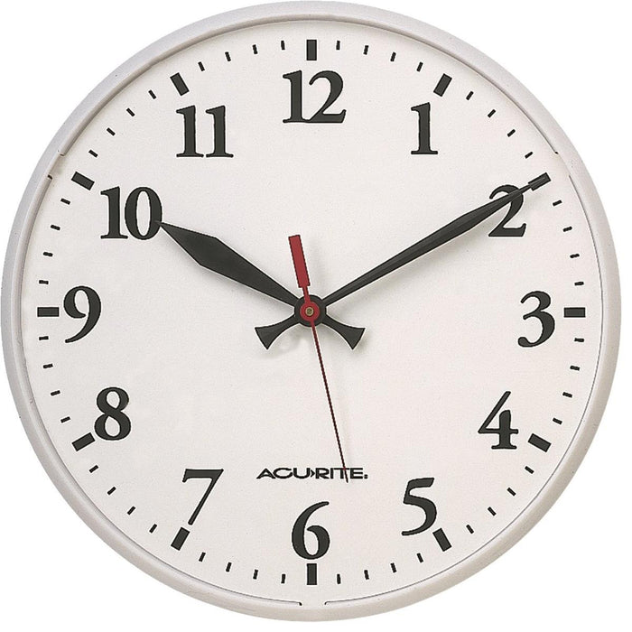 "Basic 12-1/2""-dia. Indoor/Outdoor Clock"