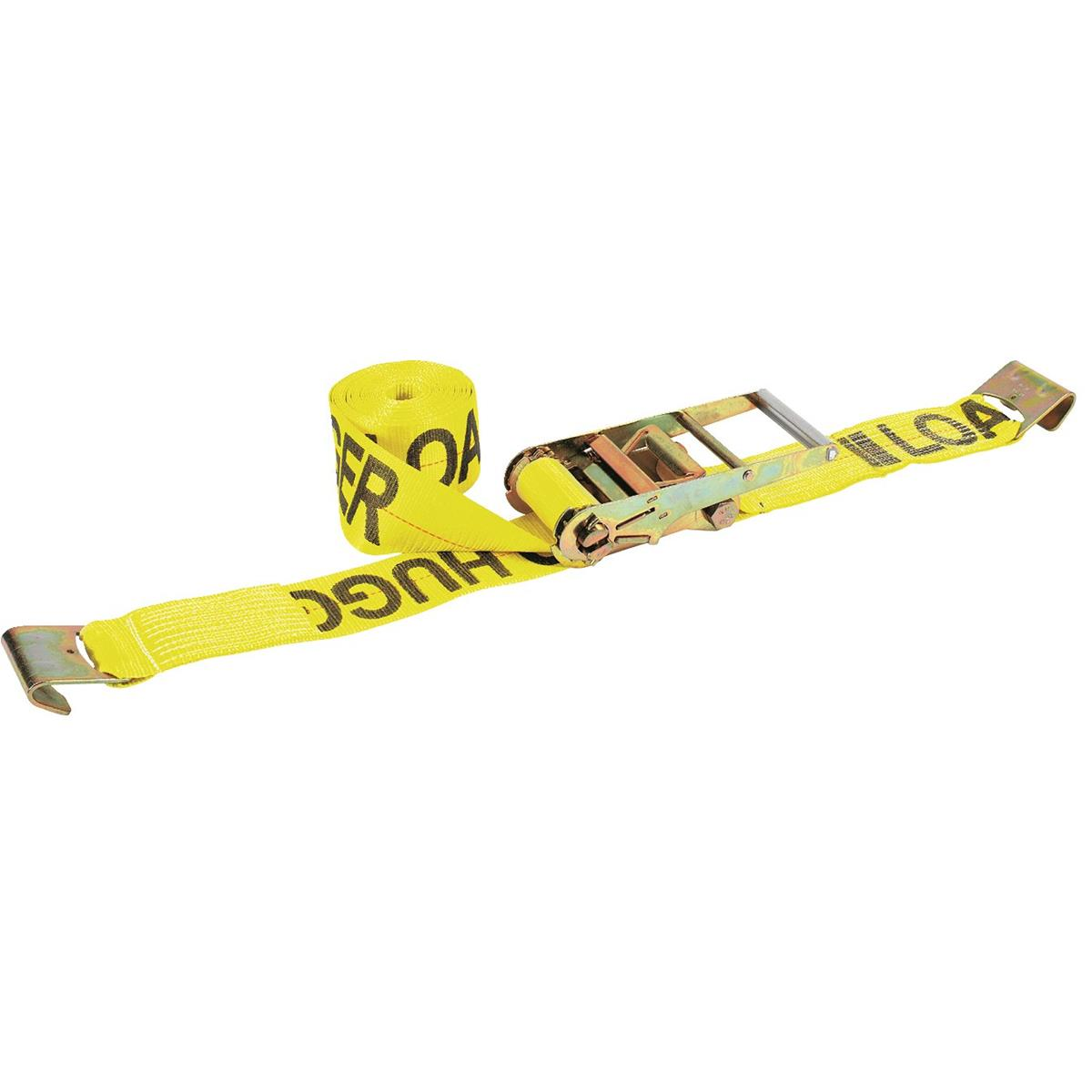 "Lift-All 4""W Cargo Ratchet Tie Downs With Flat Hook"