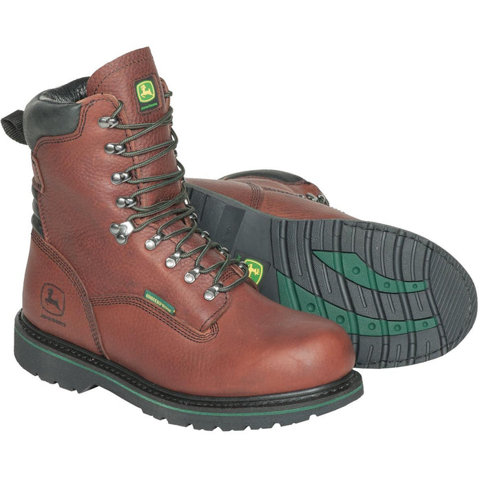 "John Deere 6""H or 8""H Plain Toe Waterproof Boots"