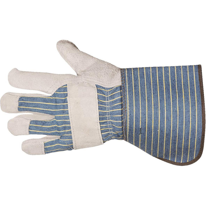 "WELLS LAMONT Leather Palm Gloves 4"" Gauntlet"