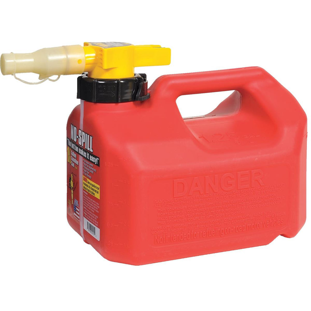 No-Spill® CARB-Compliant Gas Can, 1-1/4 gal.