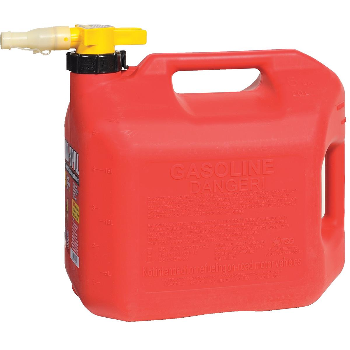 No-Spill® CARB-Compliant Gas Can, 5 gal.