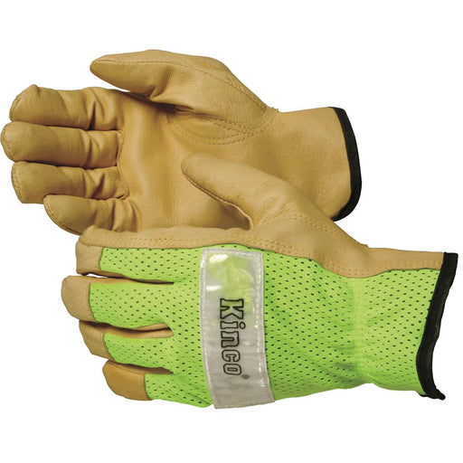 Pigskin Gloves with Mesh Back