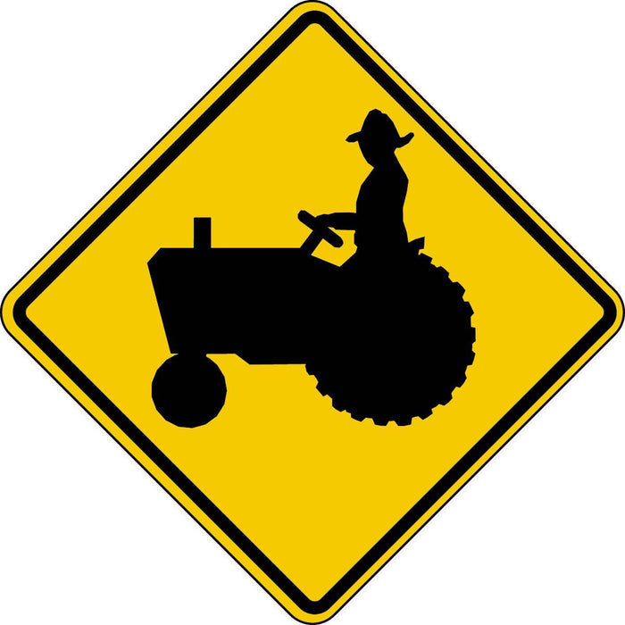 Tractor / Farm Machinery Traffic Warning Sign