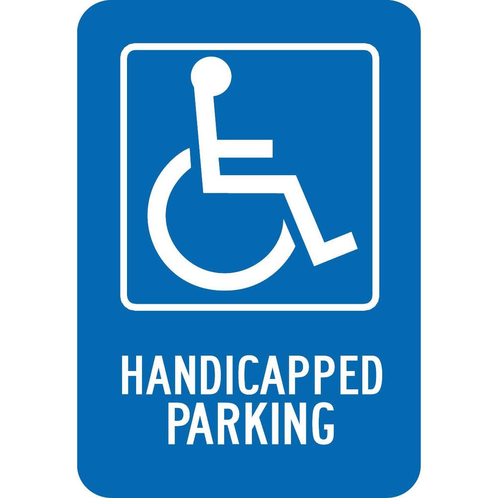 """Handicapped Parking"" Aluminum Parking Sign"