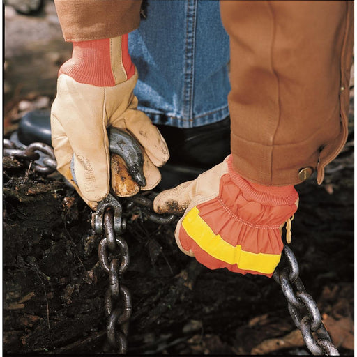 High-Visibility Orange, Insulated, Waterproof Pigskin Gloves