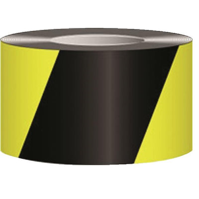 Black and Yellow Hazard Warning Tape
