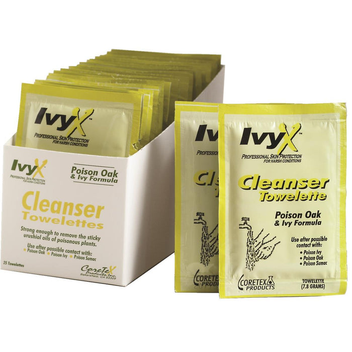 Poison Ivy Post-Contact Cleanser Towelettes (25/box)