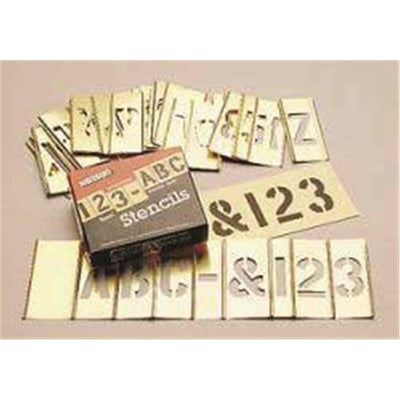"Brass Stencil Kit With 3""H Letters"