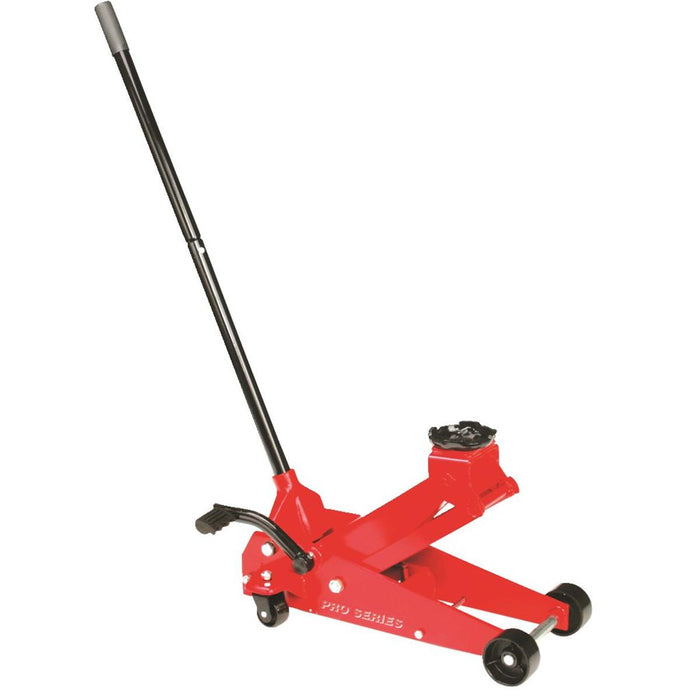 Red Floor Jack, 3-1/2-Ton Capacity