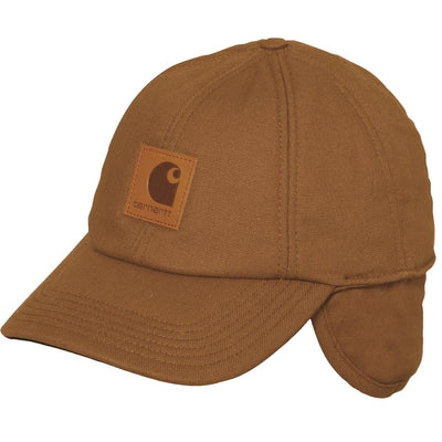 Carhartt A199 WorkFlex™ Canvas Cap with Fold-Down Ear Flaps, Brown