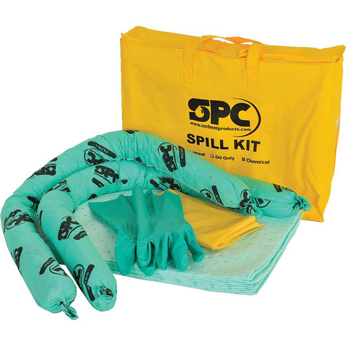 BRADY SPC ABSORBENTS Economy Spill Kit, Universal/Maintenance