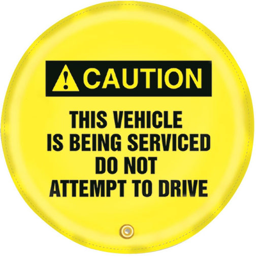 """Vehicle Being Serviced"" Steering Wheel Message Cover"