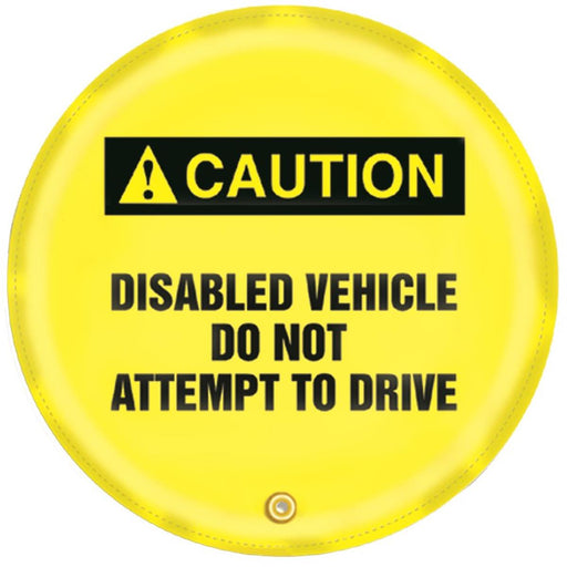"""Disabled Vehicle"" Steering Wheel Message Cover"