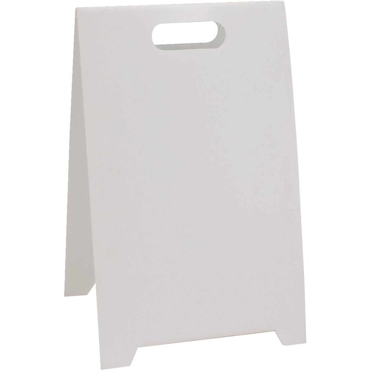 Blank White Floor Stand Sign Gempler S