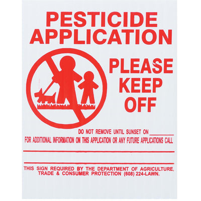 GEMPLER'S Wisconsin Lawn Pesticide Application Signs