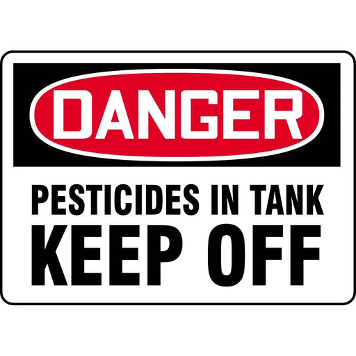 "10""W x 12""H Pesticide Warning Decal"