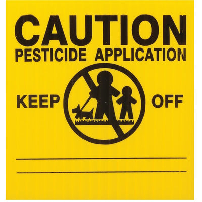 GEMPLER'S Massachusetts Lawn Pesticide Application Signs