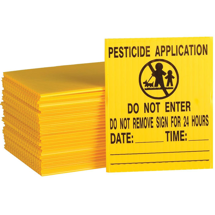 GEMPLER'S New York Lawn Pesticide Application Sign