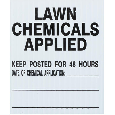 GEMPLER'S Rhode Island Lawn Pesticide Application Signs