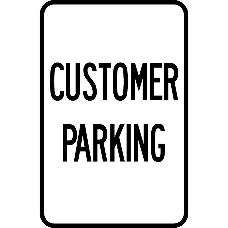 """Customer Parking"" Aluminum Traffic Control Sign"