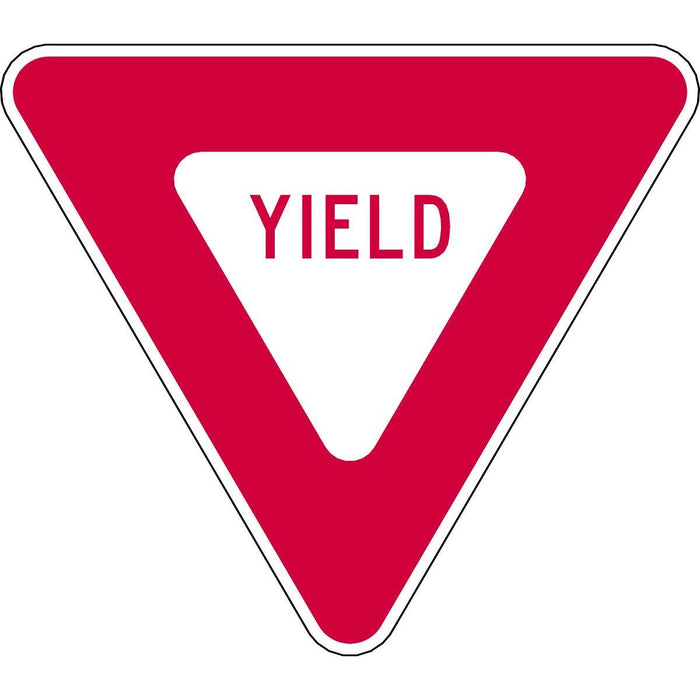 "Reflective""Yield"" Sign Alerts Drivers"