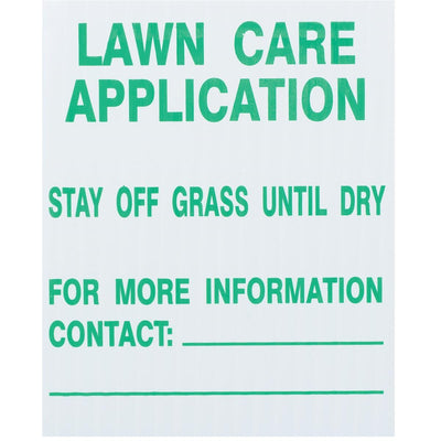 GEMPLER'S Universal Lawn Care Application Signs