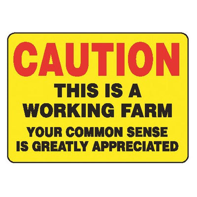 "GEMPLER'S ""Working Farm..."" Caution Sign"