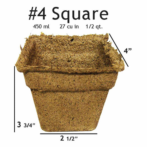 #4 Square CowPots 450mL/cell