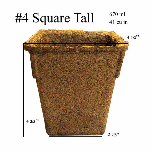 #4 Tall Square CowPots - 132 Pots