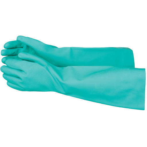 "GEMPLER'S 22-mil, Unlined Nitrile Gloves, 19""L"
