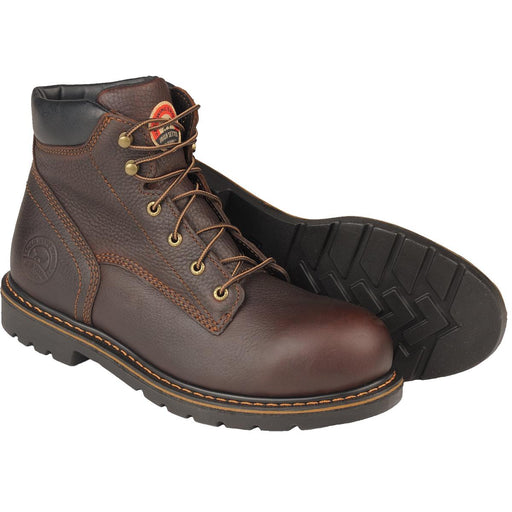 "6""H Dark Brown Aluminum Toe Work Boots"
