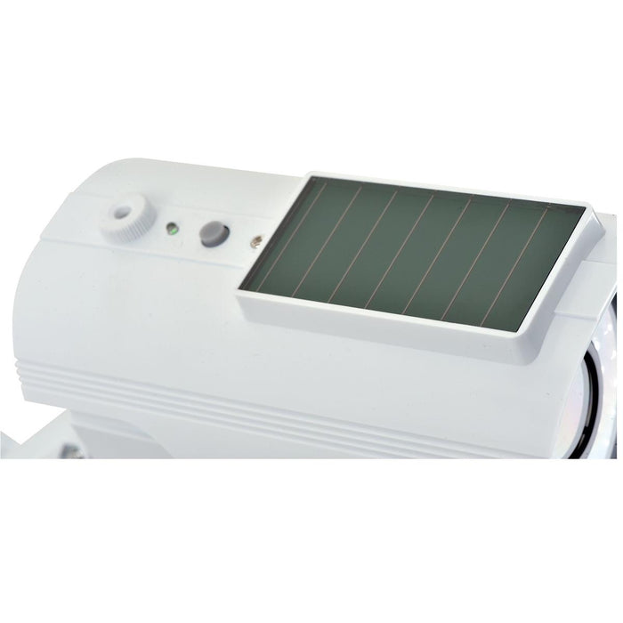 Solar-powered Fake Indoor/Outdoor Security Camera w/Flashing LED Light