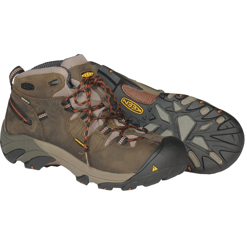 KEEN Detroit Plain Toe Mid Work Boots