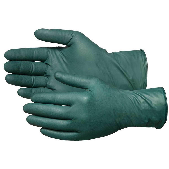 8-mil Disposable, Flock-Lined Nitrile Gloves