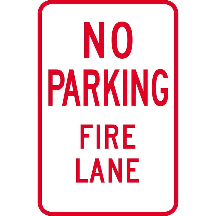 """No Parking—Fire Lane"" Reflective Traffic Control Sign"