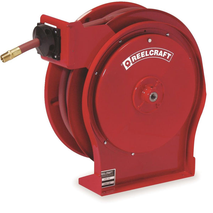 REELCRAFT Spring-Driven Hose Reel with 50'L Hose