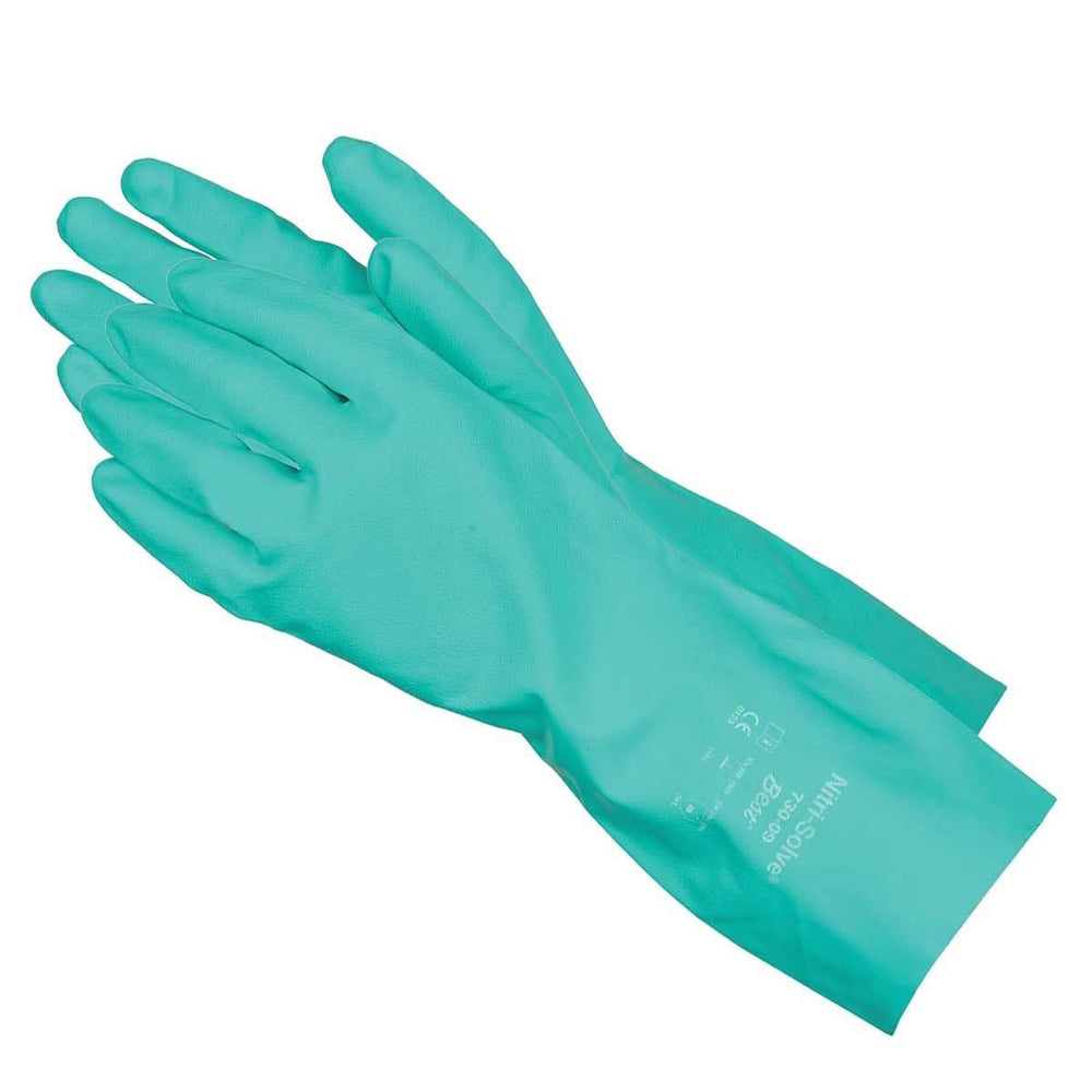 "13""L, 15-mil Chemical-Resistant Gloves, Flock Lined"