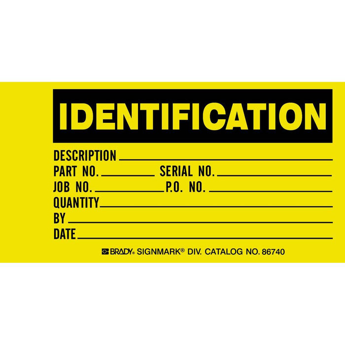 Identification Production Status Tags