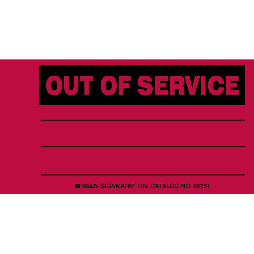 Out Of Service Production Status Tag