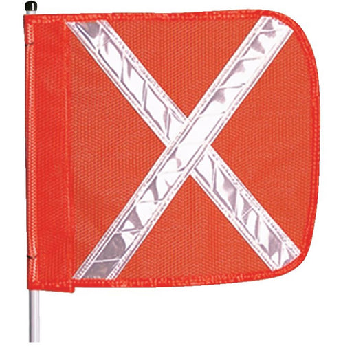 Checkers® Hi-vis Orange Warning Whips w/Reflective X