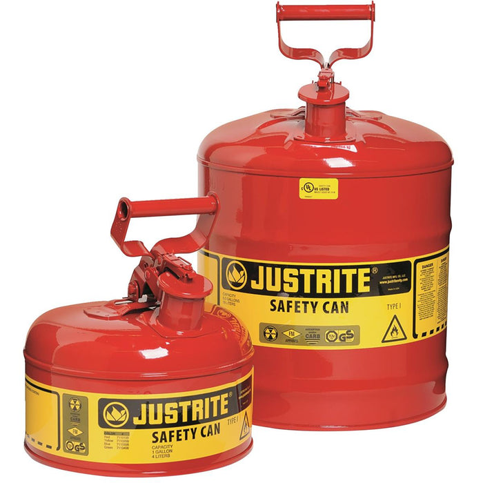 JUSTRITE Type-I Safety Gas Can